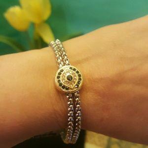 Jewelry - Beautiful Rhinestone Evil Eye Chain Bracelet